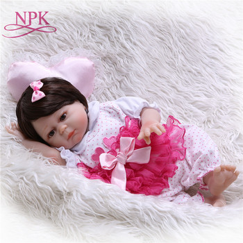 50CM Full silicone body reborn baby doll Bonecas Baby Reborn realistic magnetic pacifier bebe doll reborn for girl Gifts toys