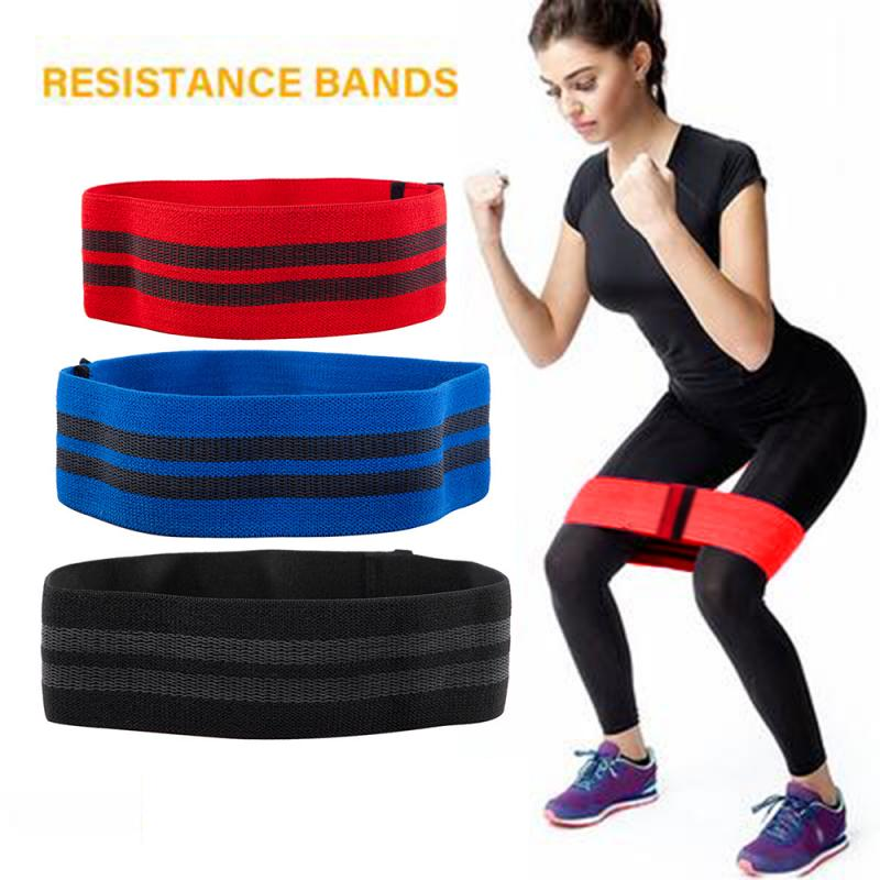 Professional Squat Resistance Band Sports Elastic Band Yoga Fitness Rally Elastic Ring Gym Workout Lady