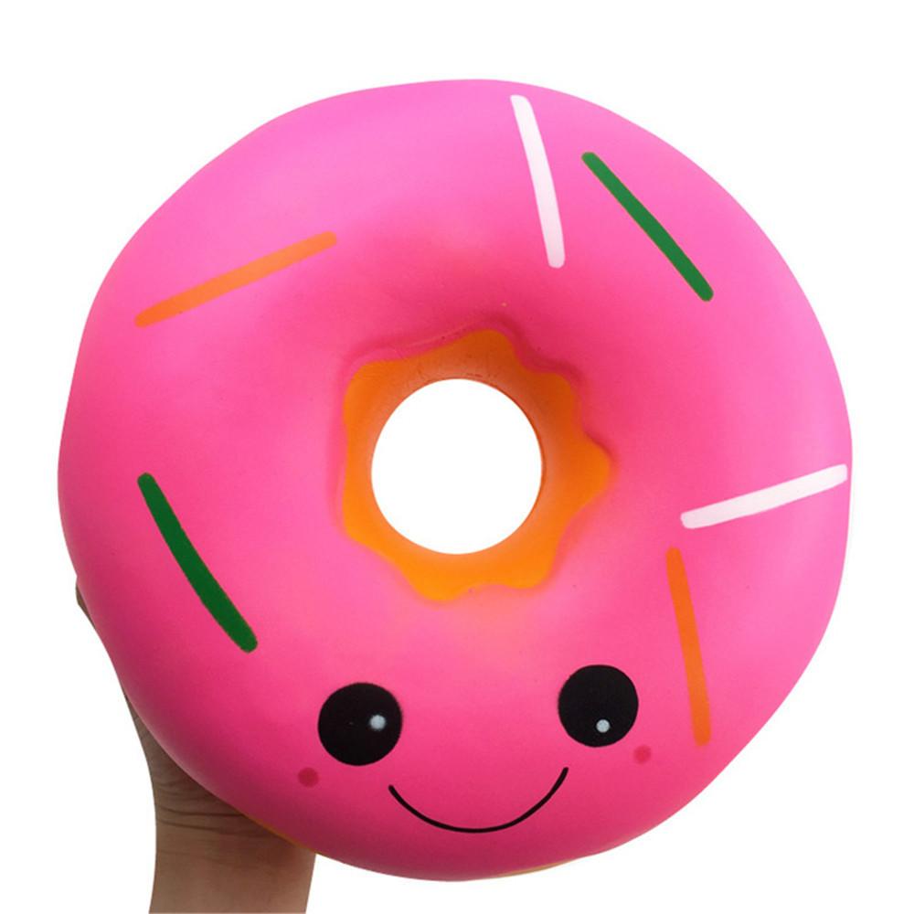 Jumbo Kawaii Sheep Squishy Cute Squishies Giant Doughnut Slow Rising Fruit Scented Toy Gifts Anti-Stress Relief Funny Toys