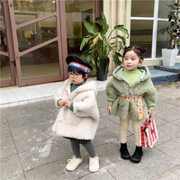 Fall /Winter Baby Thickening Jacket 2019 New Kids Fake Fur in One Coat Soft Wool Children Leisure Fashion Hat Coat Toddler Girl