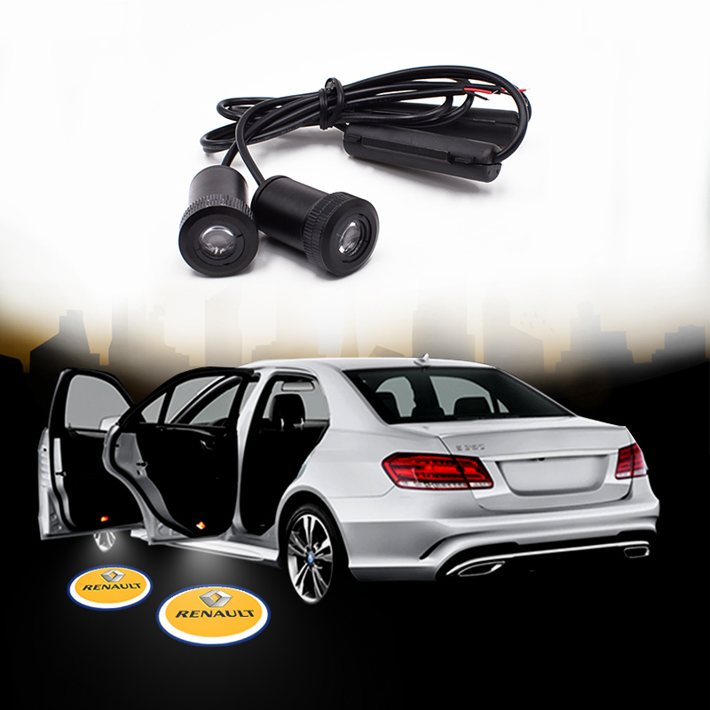 1pair car <font><b>logo</b></font> projector ghost shadow for <font><b>LED</b></font> Car Door Courtesy <font><b>Logo</b></font> Laser <font><b>Renault</b></font> welcome light decoration lamp image