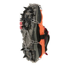 2pcs 14-Teeth 2 Color Winter Sports Anti-Slip Ice Gripper Cleats Shoe Boot Grips Crampon Chain Spike Snow Climbing Equipment(China)