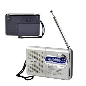 Portable Radio AM FM Receiver Telescopic Antenna Receiver Mini Pocket Built In Speaker Mini MP3 Music Kitchen Outdoor Player