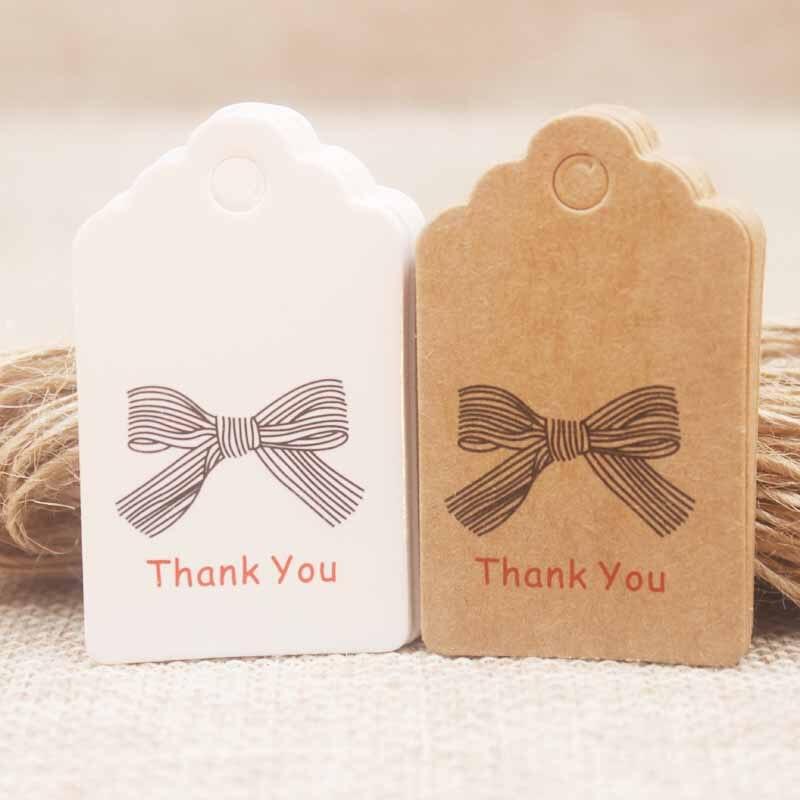 5*3cm bricolage cadeaux faits à la main étiquette saint-jacques merci étiquette coeur rouge mariage/biscuits/artisanat/boulangerie/bonbons étiquette label100pc + 100 cordes
