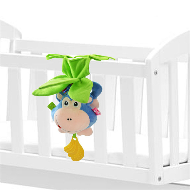 0-12 Months Baby Rattles Toys Mobiles Bendable Infant Crib Hanging Toy Bed Bell Music + Teethers Rustle Paper