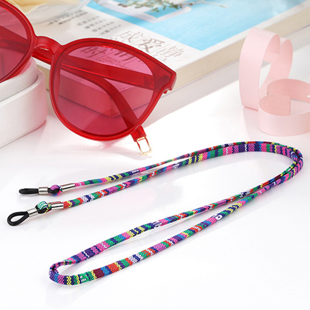 5mm Wide Eyeglass Sunglasses Cord Strap Ethnic Style Cotton Eyewear Lanyard Glasses Neck Strap String Rope Band Eyewear Cord