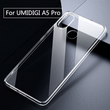 Için UMIDIGI A5 Pro kılıf şeffaf şeffaf Fit muhafaza TPU silikon yumuşak düz anti vurmak UMI A5 Pro geri telefon kılıfı
