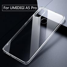 Para umidigi a5 pro caso claro transparente caber embalagem tpu silicone macio liso anti knock para umi a5 pro capa de telefone de volta caso