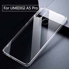 Pour UMIDIGI A5 Pro étui Transparent Transparent boîtier en Silicone souple Anti coup pour UMI A5 Pro coque arrière pour téléphone