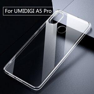 Image 1 - Pour UMIDIGI A5 Pro étui Transparent Transparent boîtier en Silicone souple Anti coup pour UMI A5 Pro coque arrière pour téléphone