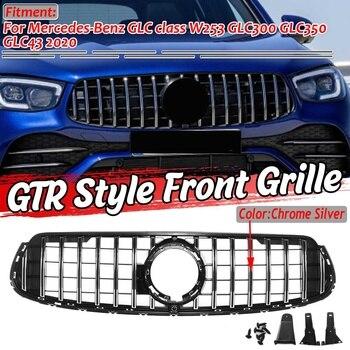 1x GLC Class GTR Style Grille Car Front Bumper Upper Grille Grill For Mercedes For Benz GLC Class W253 GLC300 GLC350 GLC43 2020