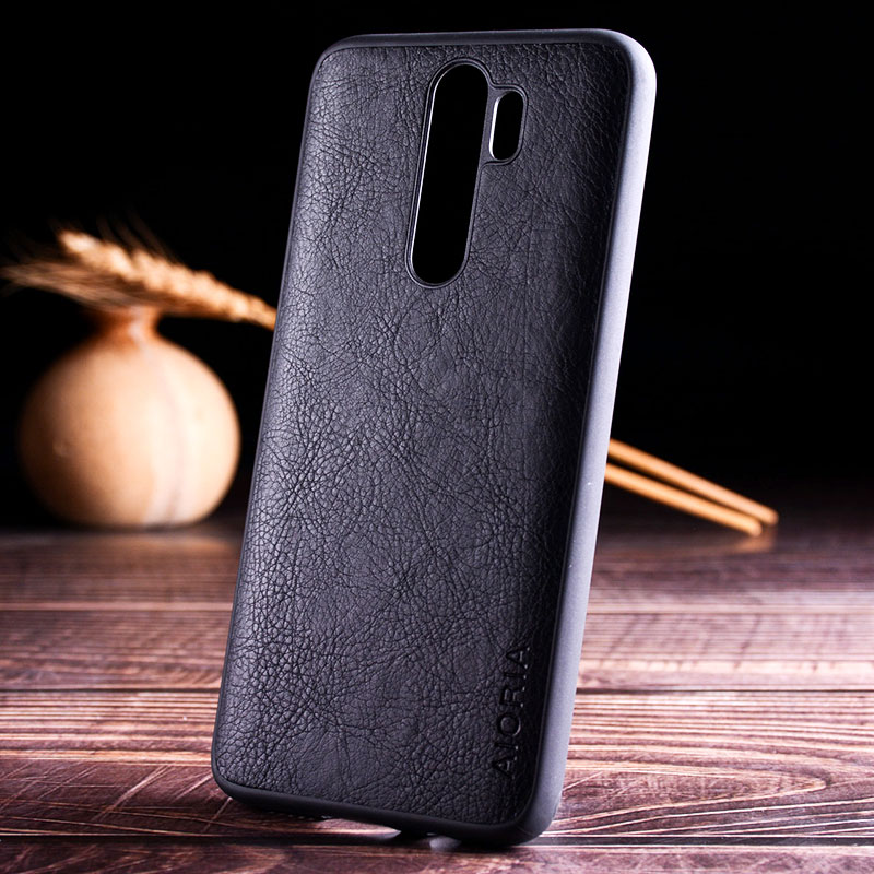 luxury Vintage Leather Skin Capa With Slot Phone Cover for Xiaomi Redmi note 8 case 2