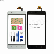Mobile Touch Screen For Assistant As-5411 As 5411 Digitizer Panel Front Glass TouchScreen Lens Sensor Tools 3M Glue