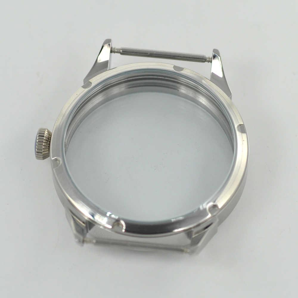 42mm zegarek ze stali Case peeling fit eta 6497/6498 Seagull ST36 ruch męski zegarek