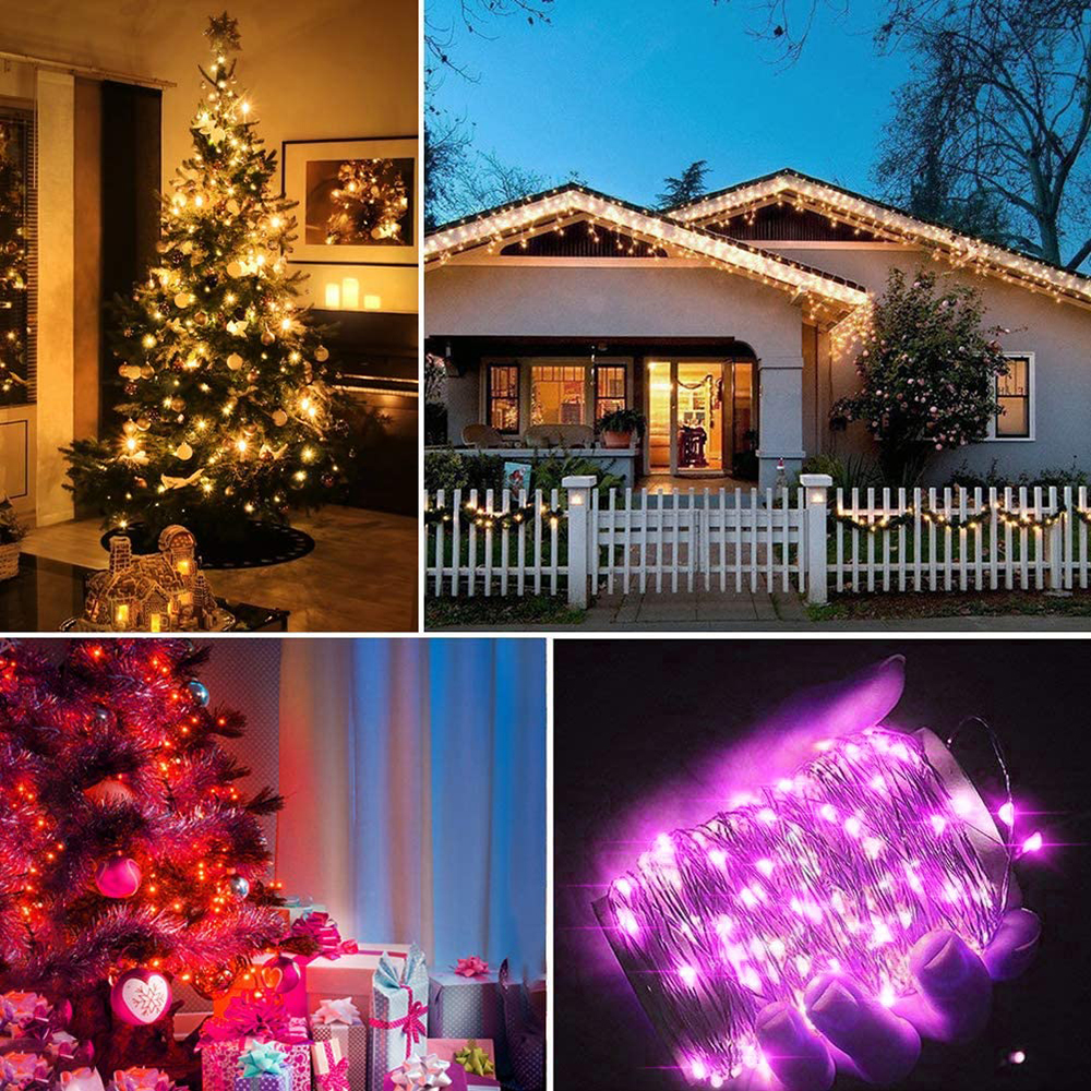 2-20M RGB LED String Light Strip Xmas Tree Decoration Lights App Remote Control-2