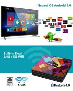 Image 2 - אנדרואיד 9.0 טלוויזיה חכמה תיבת HK1 מגניב RK3318 Quad Core 4G/64G הכפול WIFI BT IPTV Neflix youtube Google נגן ממיר pk hk1 מקסימום