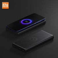 Xiaomi Wireless Power bank 10000mAh PLM11ZM USB Type C Mi Powerbank 10000 Qi Fast Wireless Charger Portable Charging Poverbank