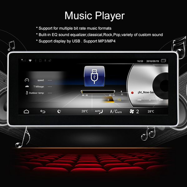 10.25 pouces Android 8.1 4G + 32G voiture GPS Navigation lecteur multimédia Bluetooth WiFi affichage pour Mercedes Benz classe E W212 2009- - 2