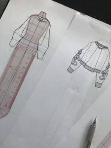 Drawing-Ruler Figure Fashion-Design Women for Sketch-Template Female