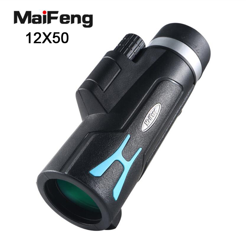 Maifeng 12X50 Monocular Telescope HD High Times Tourism Hiking Equipment High Powerful Outdoor Binoculars For Hunting Camping image