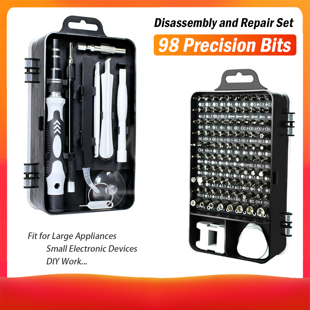 115 In 1 Precision Screwdriver Set Magnetics Screwdriver Bits Telescopic Tube Hexagonal Sleeve For Refrigerator TV Watches PC