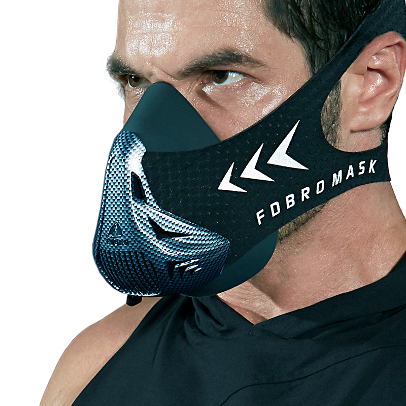 FDBRO Sports Masks 2.0 Phantom Training Elevation Cycling Masks Running Cardio High Altitude Protective Breathing Trainer Filter image