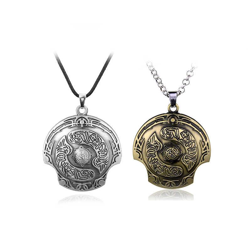 Juego DOTA 2 colgante collar accesorios periféricos juego Dota2 llaveros de Metal llaveros joyería hombres mujeres regalos
