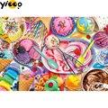 Полноразмерная/круглая алмазная живопись, вышивка крестиком, красочное мороженое, алмазная вышивка Стразы, мозаичный декор, подарок EX0578