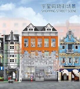 Image 4 - MOC Creator uzman kristal ev tuğla şehir sokak serisi Model oyuncak inşaat blokları çocuklar için uyumlu 10224 hediyeler
