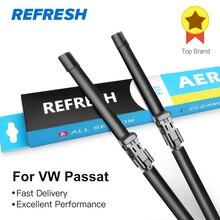 REFRESH стеклоочистители ветрового стекла для Volkswagen VW Passat B5 B6 B7 B8 Fit штырь сбоку/кнопочный рычаг модель года от 2002 до 2019