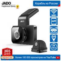 Jado d330 câmera do carro dvr wifi velocidade n gps dashcam fhd 1080 p traço cam 24 h monitor de estacionamento registrador do carro visão noturna