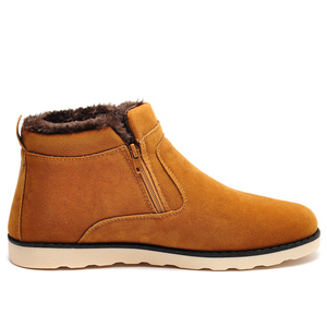 Image 5 - REETENE Winter Boots Men 2018 Warm Snow Boots Men Casual Snow Boots Men Plush Zipper Winter Shoes Men Slip On Fur Male Shoes