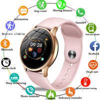 En este momento fitness tracker smart watch las mujeres deporte impermeable para IOS Android teléfono inteligente mujer Corazón de vigilar la presión arterial.