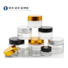 50PCS*5/10/15/20/30/50/80/100g Cream Jar Clear Glass Cosmetic Container Empty Makeup Facial Mask Refillable Pot Sample Canister