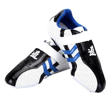 Profesjonalne buty Kung Fu oddychające buty Taekwondo Wushu zapasy sztuki walki boks trening sportowy Sneaker walki tanie i dobre opinie jusenda CN (pochodzenie) Biały pas Taekwondo Shoes White Black Blue 35# - 45# Polyester Wear-resistant Breathable DR0189