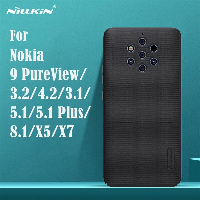 Pour Nokia 9 PureView étui Nokia 3.2 4.2 8.1 X7 5.1 Plus X5 3.1 couverture Nillkin Super givré bouclier étui dur PC téléphone couverture arrière