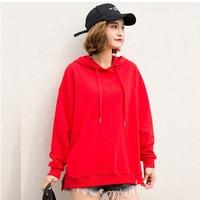 oversized hoodie fashion red hoodies womens sweat femme oversize ladies hood sweatshirts fall clothing cotton white hoody