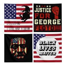 150*150CM I Can't Breathe George Floyd Black Lives Matter Protest Notice Tapestry Flag For Parade недорого