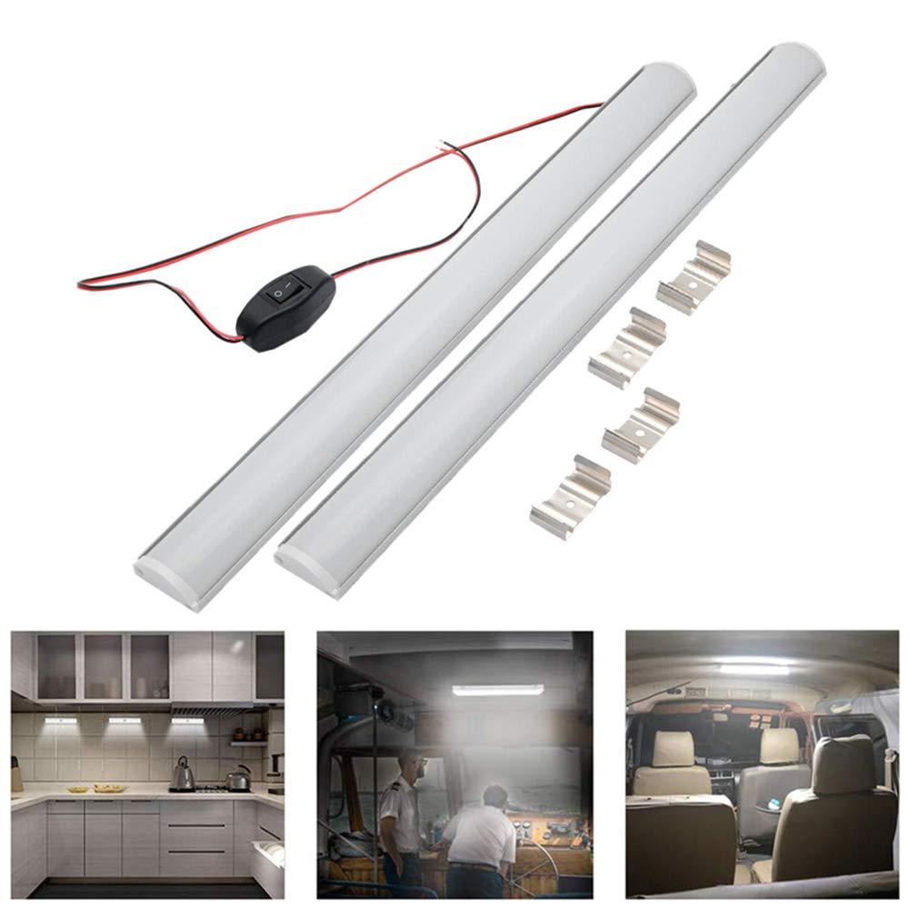 DC12V LED Strip Lights Bar Roof Light Car Lamp For Car Truck Caravan Camper Motorhome 10W 1A