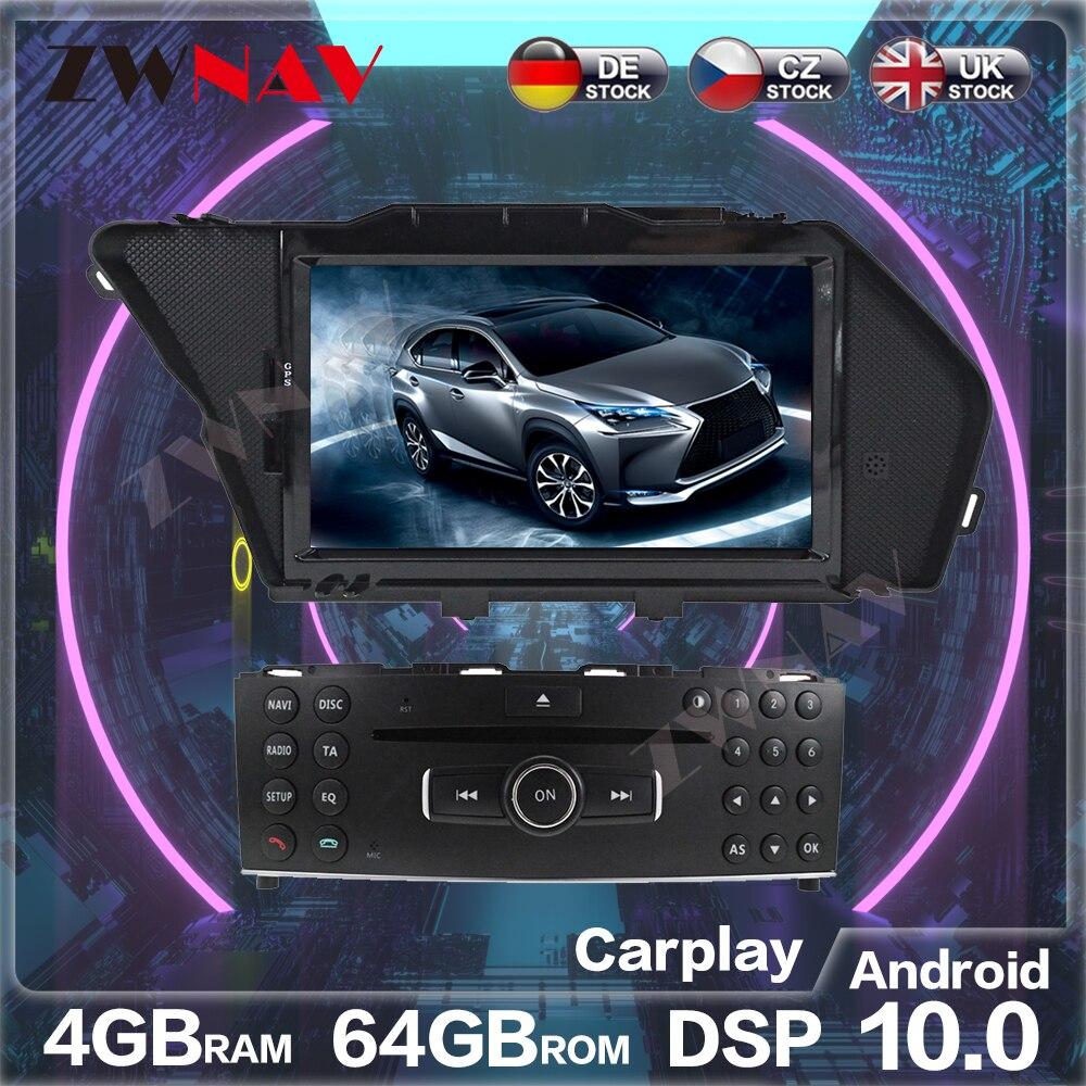 Android 10.0 4 + 64G araba radyo GPS navigasyon ünitesi için Mercedes Benz GLK X204 GLK300 GLK350 radyo kaydedici multimedya oynatıcı Wifi