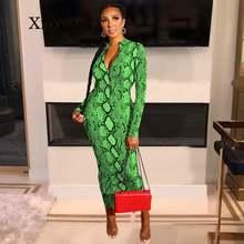 Пикантное облегающее платье со змеиным принтом женская одежда