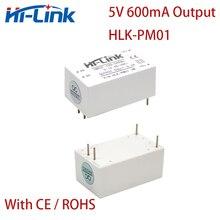10 pz/lotto Libera La Nave HLK PM01W 110V 220V per 3W 5V 600mA AC DC converter module per il potere step down Isolato modulo