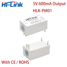10pcs/lot Free Ship HLK PM01W 110V 220V to 3W 5V 600mA AC DC converter module for power step down Isolated module