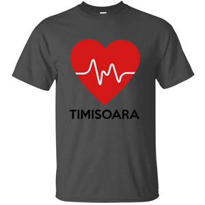 100% Cotton Breathable Heart Timisoara Tshirt For Men 2019 Print Size S-5xl Natural Men's Tshirt Slogan Hiphop Clothing(China)