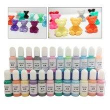 24 cores de cristal epóxi pigmento uv resina tintura diy jóias arte artesanato conjunto corante