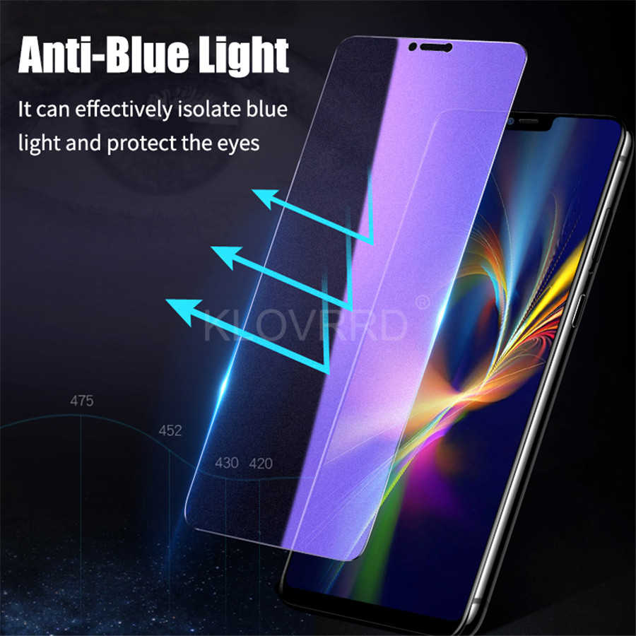 Pokjsofjnjlfkl Phone Products 25 PCS AG Matte Anti Blue Light Full Cover Tempered Glass for Galaxy A20 Screen Protectors for Phone