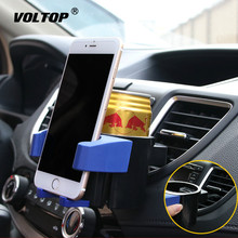 2in1 Car Phone Drinks Holders Truck Accessories Organizer Cup Holder Interior Universal Water Bottle Stand