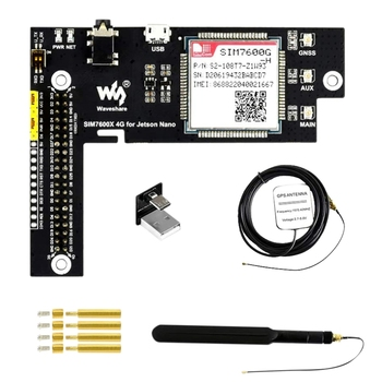 Waveshare 4G/3G/2G/GNSS Expansion Board for Jetson Nano Based on SIM7600G-H Global Applicable