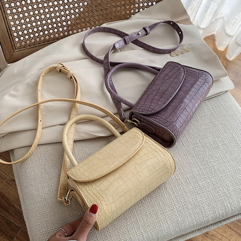 Stone Patent Mini Crossbody Bags For Women 2020 Small Handbag Small Bag PU Leather Hand Bag Ladies Evening Bags With Handle
