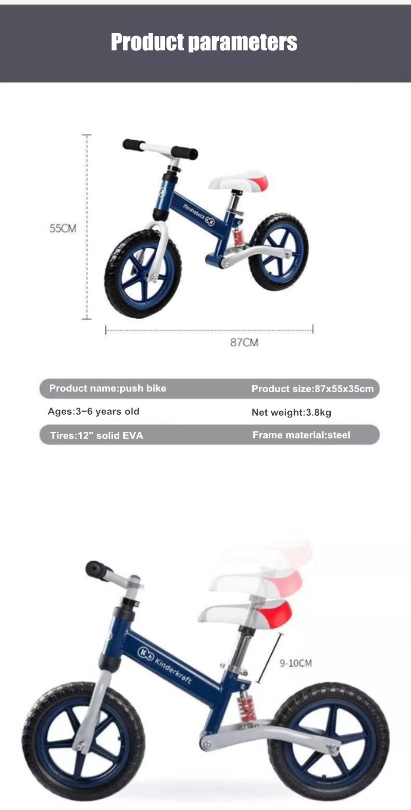 Hc40b147b1e584541beff588cb7d3feddo Brand New Balance Bike Bicycle For Kids 3~6 Ages Child Toddler Complete Cycling Bike Learn to Ride Bicicleta No Pedal Push Bike